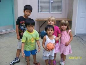 ホームステイの子ども達ともすぐに仲良くなりました